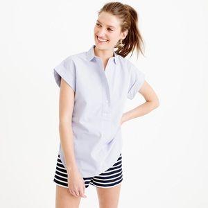 J.CREW Pinstripe Popover Shirt